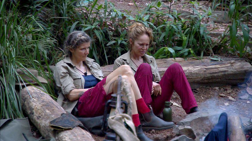 Sandra Kiriasis und Doreen Dietel im Dschungelcamp 2019