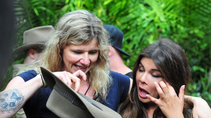 Sandra Kiriasis mit ihrer Dschungelbegleitung Indira Weis