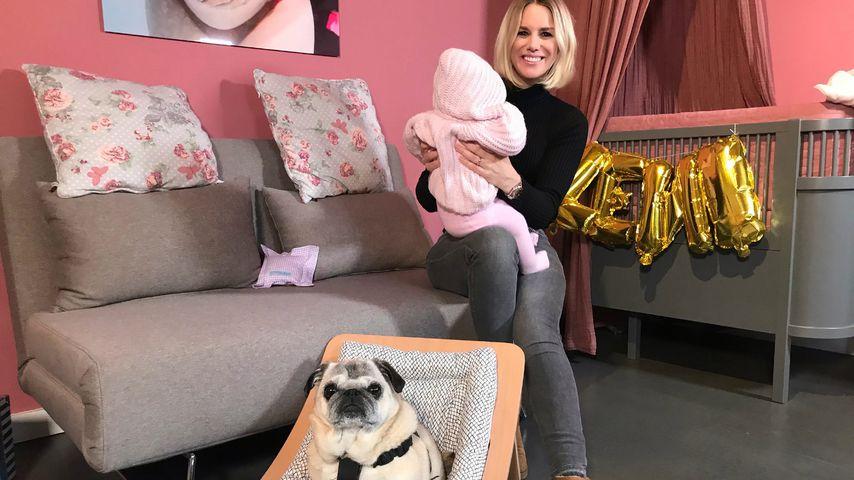 Vier Monate Baby-Glück: Nur Sandra Kuhns Hund protestiert