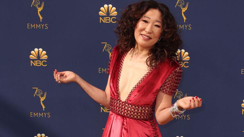 Sandra Oh bei der Emmy-Verleihung 2018