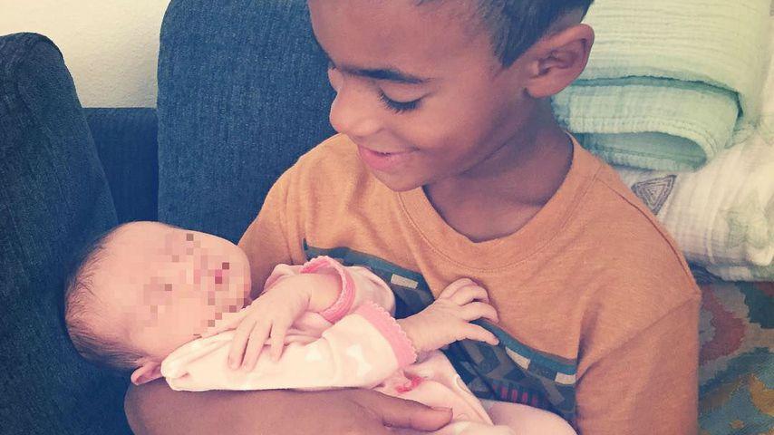 Sandy Möllings Sohn Jaden mit ihrer Nichte