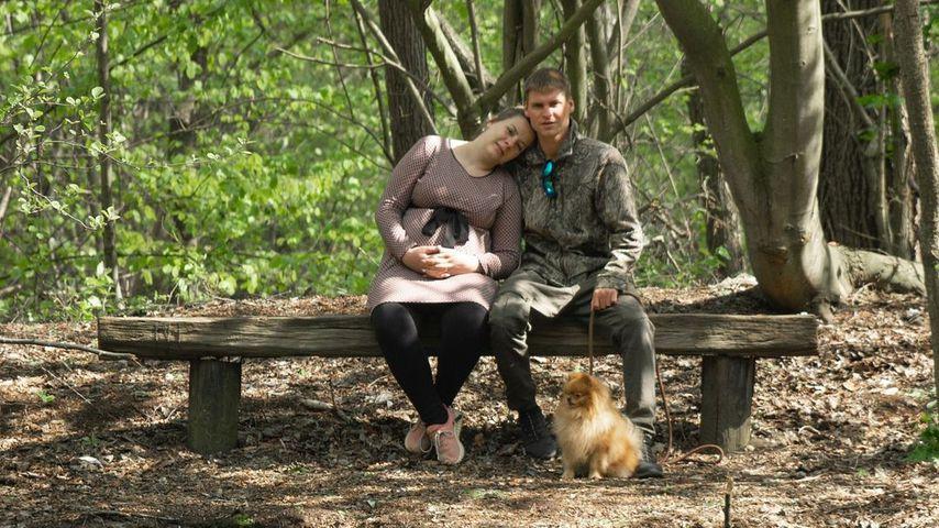 Sarafina und Peter Wollny mit ihrem Hund Feivel