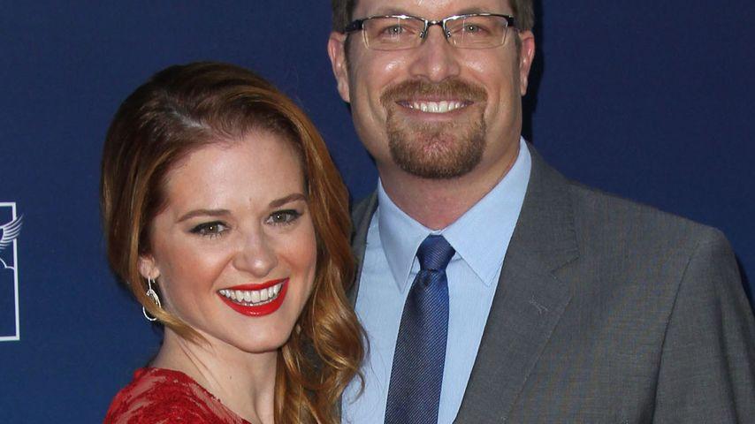 Sarah Drew mit ihrem Mann Peter Lanfer