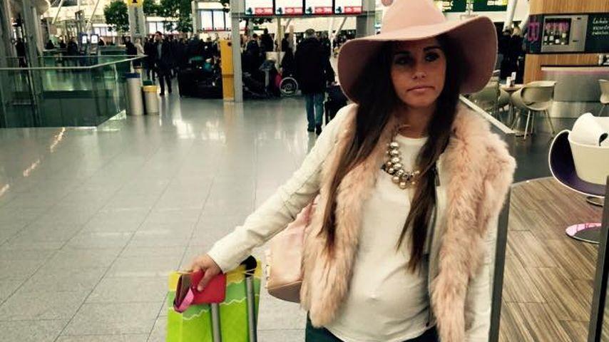 Super-stylish! So cool reist die schwangere Sarah Lombardi