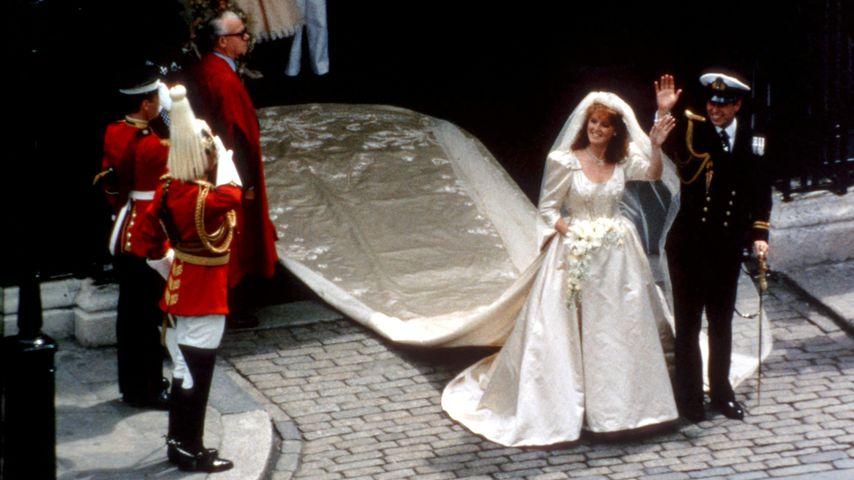 Sarah Ferguson und Prinz Andrew an ihrem Hochzeitstag 1986