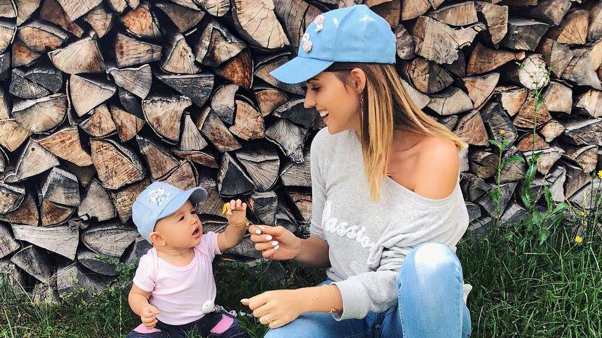 Sarah Harrison und Töchterchen Mia Rose in Kitzbühel