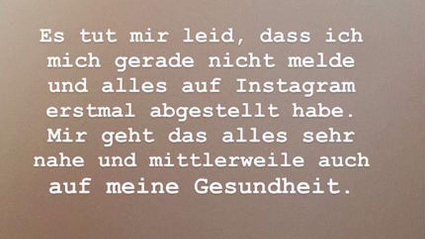 Sarah Harrisons Instagram-Story zur Funkstille