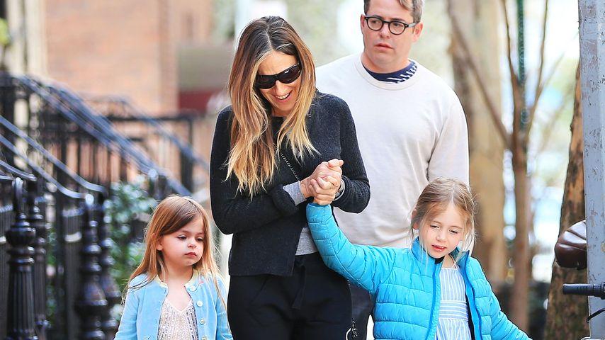Sarah Jessica Parker und Matthew Broderick mit ihren Töchtern Marion und Tabitha