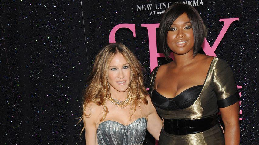 """Sarah Jessica Parker und Jennifer Hudson bei der Premiere des ersten """"Sex And The City""""-Films 2008"""