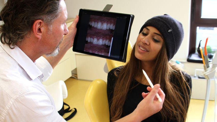 Sarah Joelle Jahnel bei ihrer Zahnbehandlung