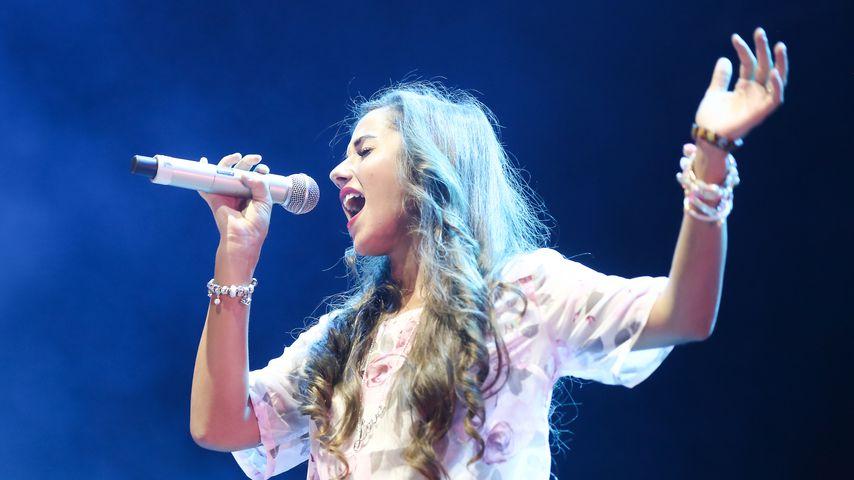 Sarah Lombardi bei einem Konzert in Wien, Juli 2014
