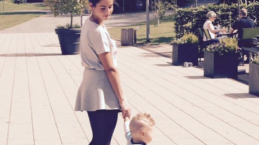 Sarah Lombardi mit Baby Alessio