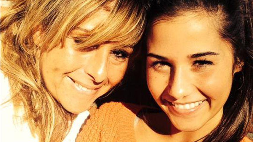 Sarah Lombardi mit ihrer Mutter Sonja Strano im Jahr 2014
