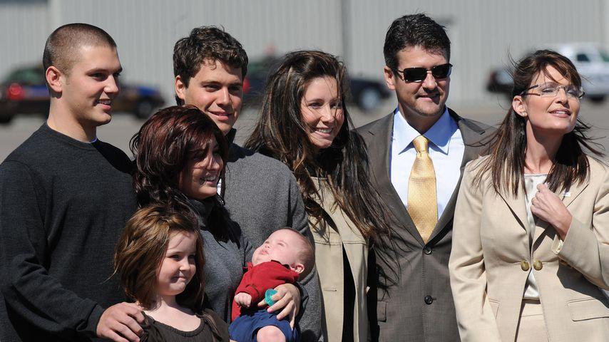 Sarah Palin (r.) mit ihrer Familie, September 2008