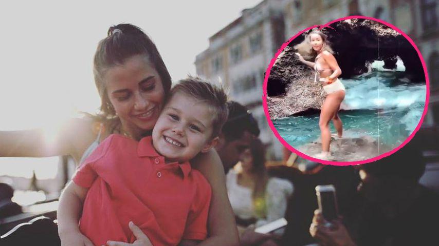 Alessio besorgt: Mama Sarah wurde von Welle mitgerissen