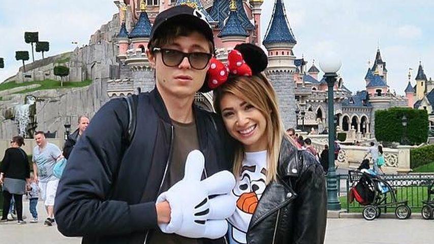Sascha Koslowski und und Paola Maria in Disneyland