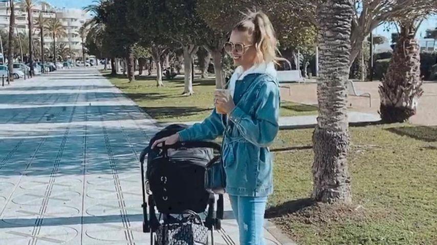 Scarlett Gartmann mit ihrem Baby