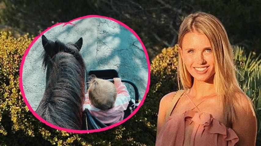 Spaziergang: Hier führt Scarlett Gartmann Pony und Kind aus!