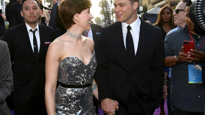 """Scarlett Johansson und Colin Jost bei der Premiere von """"Avengers: Infinity War"""" in Los Angeles"""