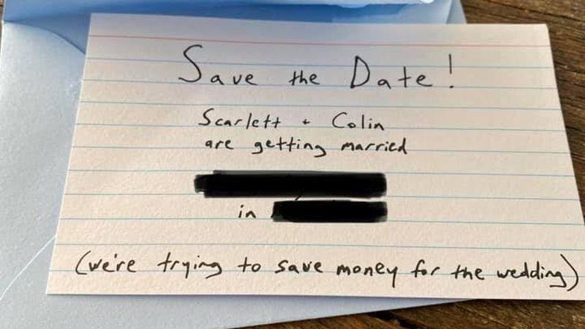 Scarlett Johansson und Colin Josts Save-the-Date-Karten