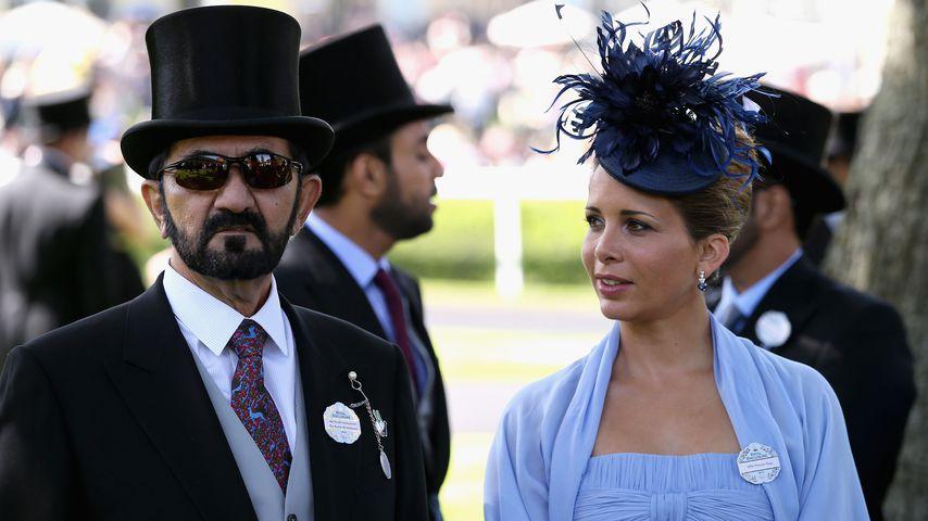 Scheich Mohammed bin Rashid Al Maktoum zusammen mit Prinzessin Haya, Juni 2014