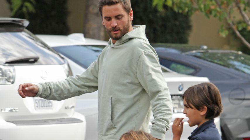 Scott Disick mit seinen Kindern Penelope und Mason