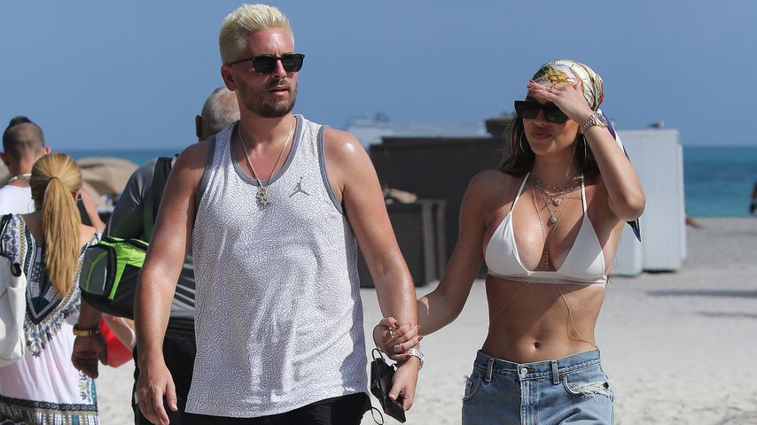 Scott Disick mit seiner Freundin Amelia Hamlin