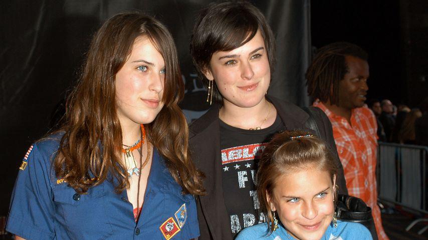 Scout, Rumer und Tallulah Willis auf einer Premierenfeier im Mai 2005