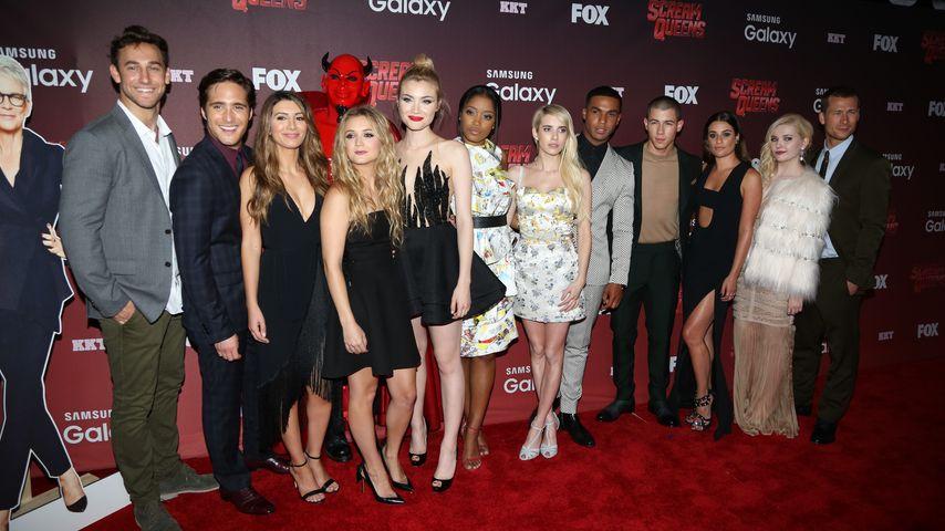 """Der Cast von """"Scream Queens"""" bei der Premiere im Wilshire Ebell Theater, Los Angeles"""