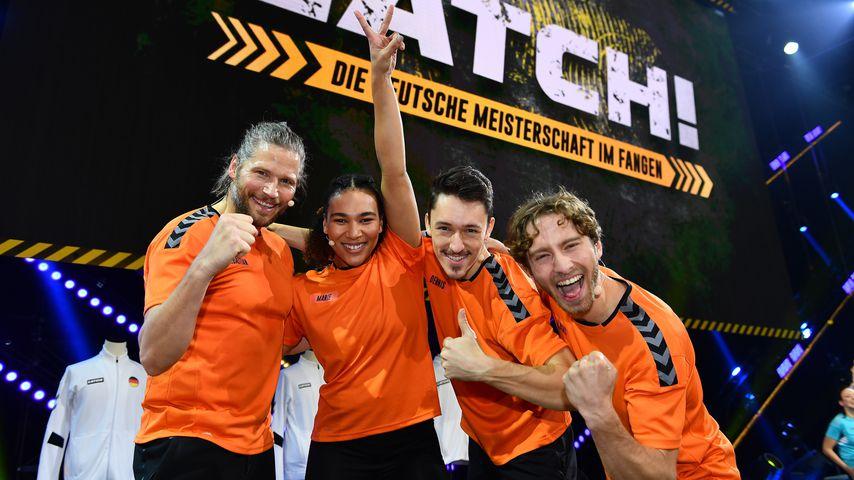 """Sebastian Ströbel mit seinem """"Catch!""""-Team"""