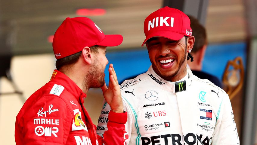 Sebastian Vettel und Lewis Hamilton in Monaco