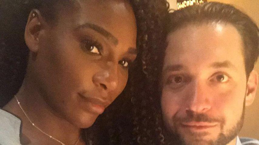 Serena Williams und Alexis Ohanian zwei Wochen nach der Geburt ihrer Tochter
