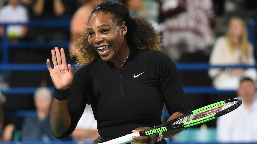 Serena Williams beim Mubadala World Tennis Championship in Abu Dhabi