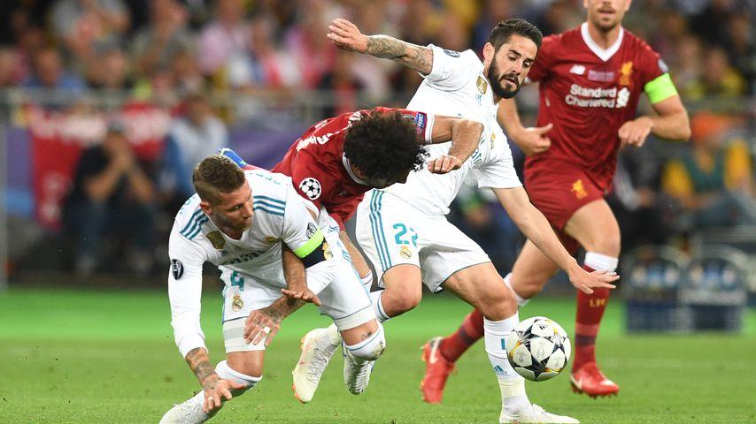 Sergio Ramos (l.) und Mohamed Salah im Champions-League-Finale