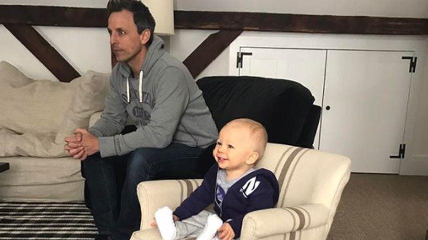 Seth Meyers mit seinem Sohn Ashe Olsen
