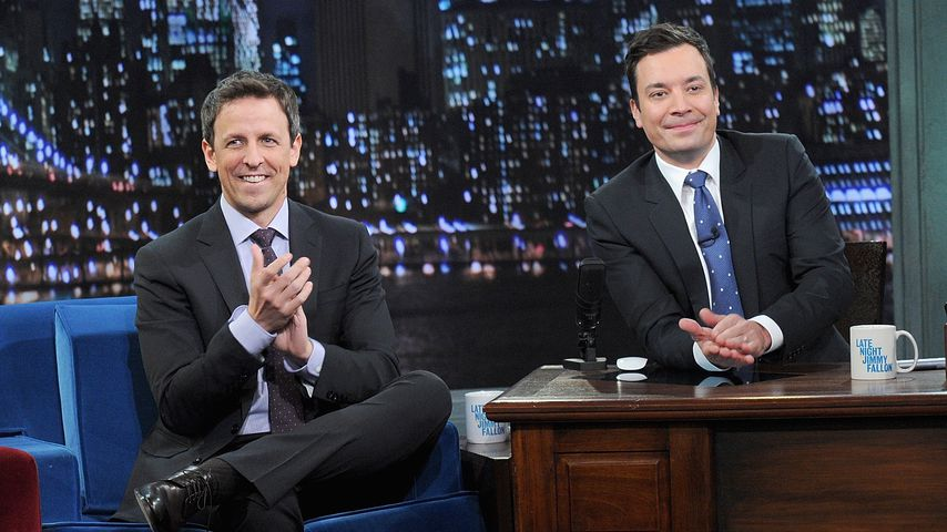 "Seth Meyers und Jimmy Fallon in der ""Late Night with Jimmy Fallon""-Show"