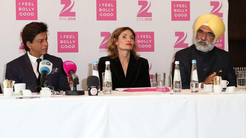 Shah Rukh Khan, Zee.One-Chefin Friederike Behrends und der indische Botschafter Gurjit Singh