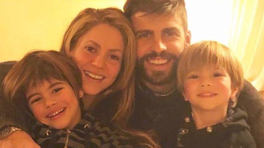 Shakira, Gerard Piqué und ihre Söhne Sasha und Milan im Dezember 2018