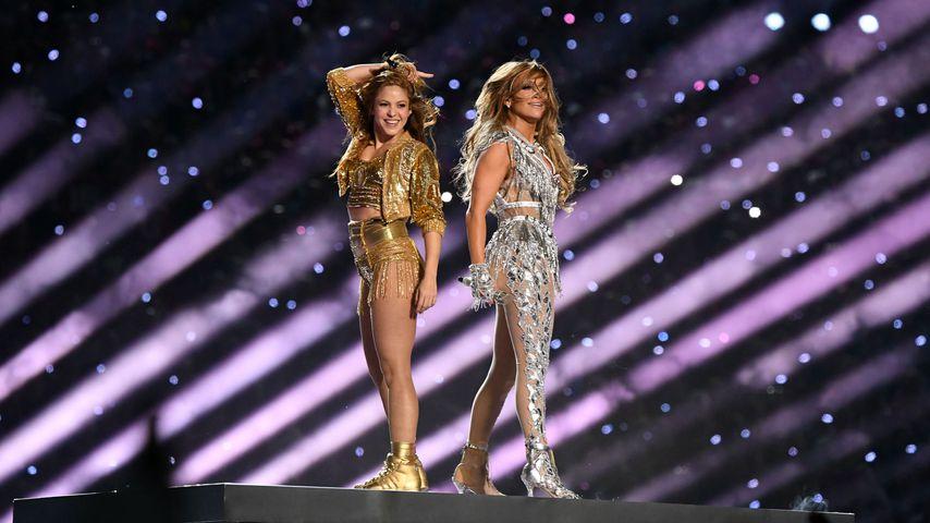 Shakira und Jennifer Lopez bei der Halbzeit-Show des Super Bowls