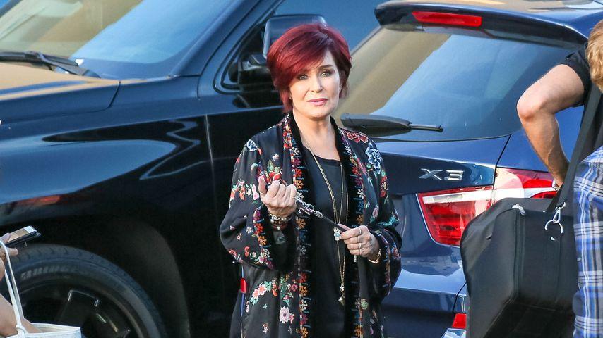 Sharon Osbourne auf dem Weg zu einer TV-Show