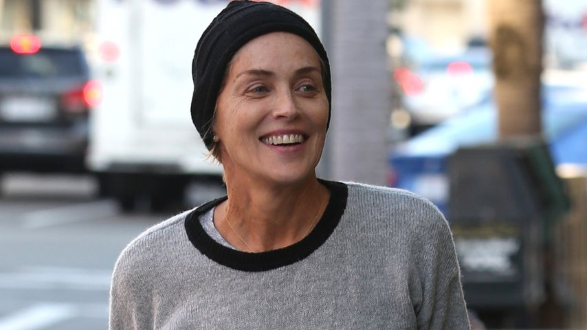 Total uneitel: Sharon Stone ohne Make-up unterwegs