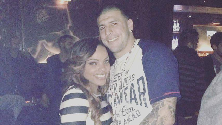 Shayanna Jenkins und Aaron Hernandez als glückliches Paar