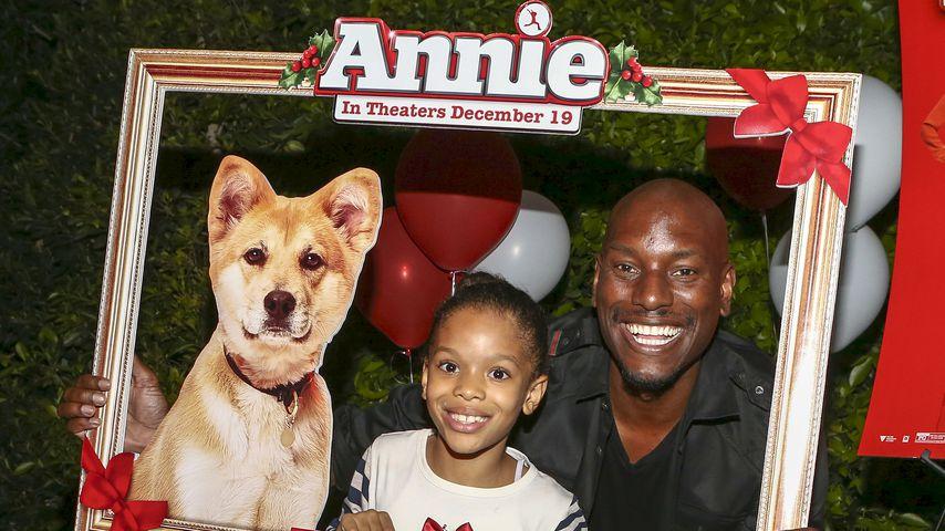"""Shayla Somer Gibson und Tyrese Gibson bei ihrer """"Annie""""-Filmvorführung für Familie und Freunde"""