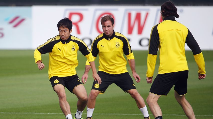 Shinji Kagawa, Mario Götze und Neven Subotic, Training beim BVB, September 2017