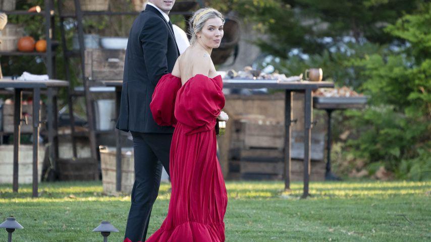 Schauspielerin Sienna Miller, Gast auf Jennifer Lawrence' Hochzeit