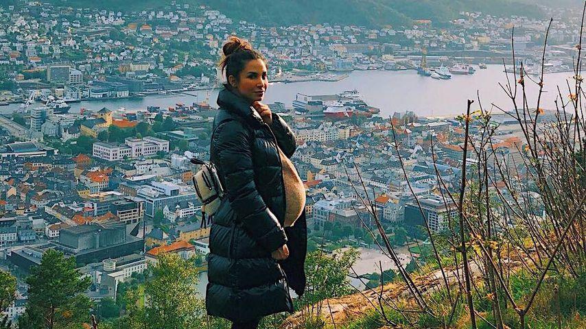 Hochschwanger in den Bergen: Sila Sahin genießt die Natur!