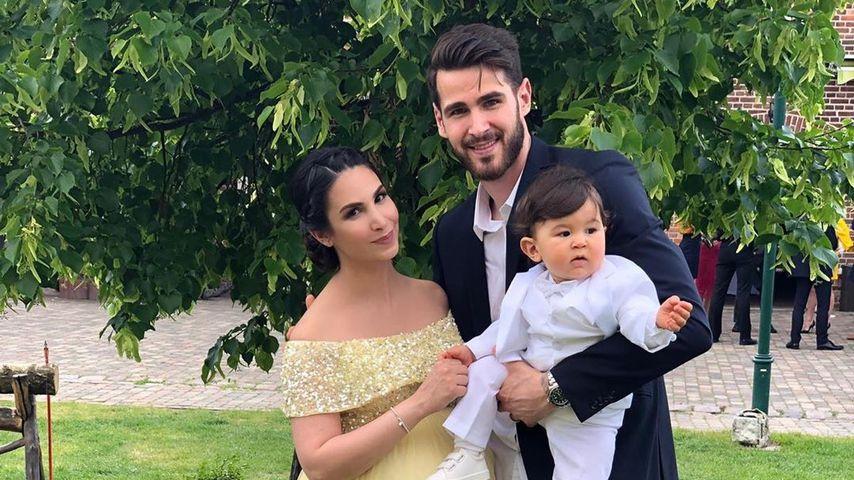 Sila Sahin, Samuel Radlinger und ihr gemeinsamer Sohn Elija im Mai 2019