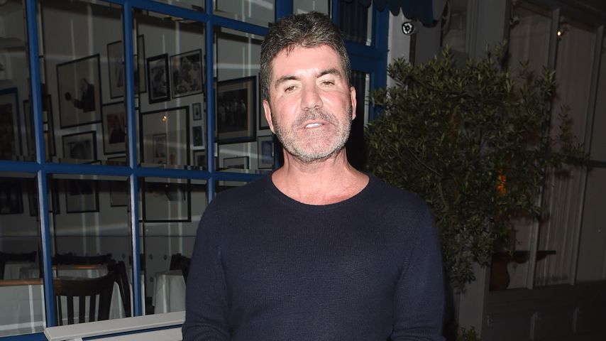 Simon Cowell vor einem Restaurant in London