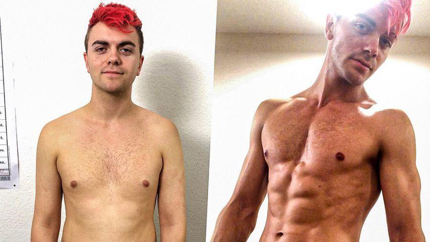 Mega-Transformation: YouTuber Simon Will zeigt sein Sixpack