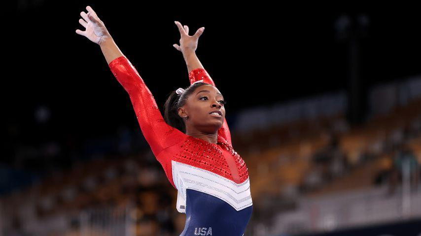 Simone Biles im Juli 2021 bei den Olympischen Spielen in Tokio